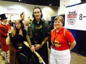 Lisa meets Loki at Denver Comic Con