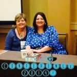 Colleen Oakes and me - First Sale Panel RMFW 2014